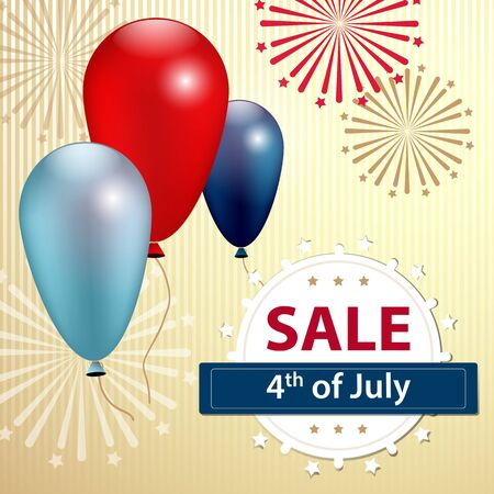 Independence day sale banner, 4 th of July