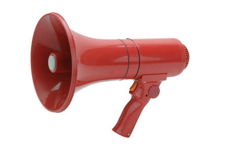 Red megaphone photo