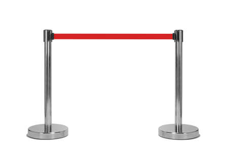 guard rail: Stand barrier isolated on white Stock Photo