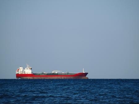 Industrial ship on Black Sea photo