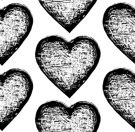 tridimensional: sketchy seamless pattern heart
