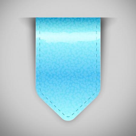 sticky note:  blue glossy label Illustration