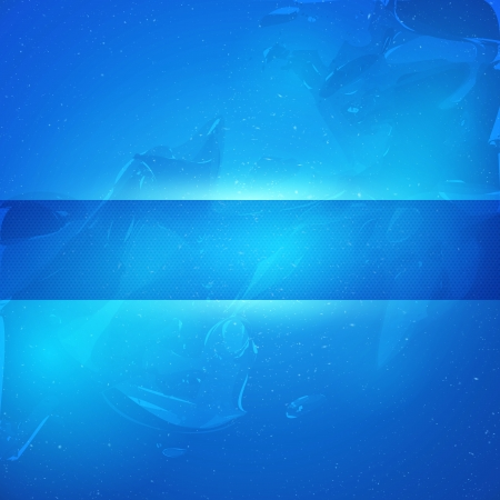 crystals in water: Vector background. Abstract background. Business background. Technological background. Blue background. Ice, water, snow, cold.