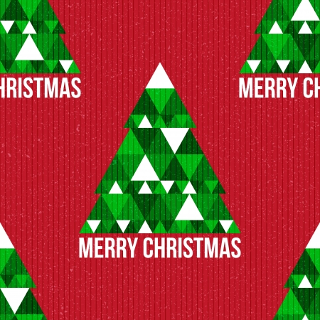 Christmas seamless pattern. Christmas background. Vector illustration. Merry Christmas. Happy New Year. Vector pattern. Vintage vector. Christmas tree. Paper texture. Realistic cardboard Vector