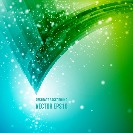 Abstract vector background  Business background  Technology background  Business card  Technology abstract  Bright background  Green background  Blue background Vectores