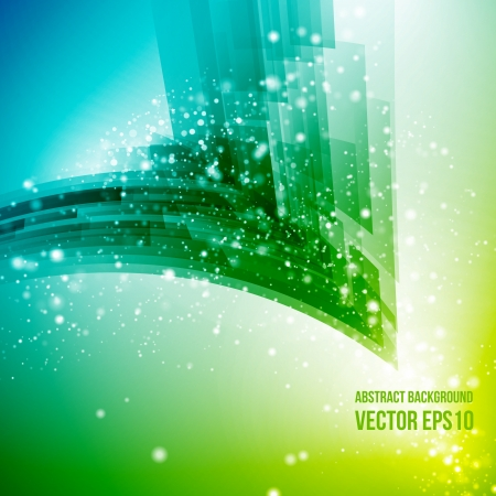 particle: Abstract vector background  Business background  Technology background  Business card  Technology abstract  Bright background  Green background  Yellow background Illustration