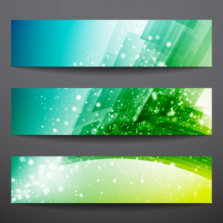 Abstract vector banners  Business banner  Banner background  Web banner  Technology background  Business card  Technology abstract  Bright background  Green background  Blue background  Yellow background Vector