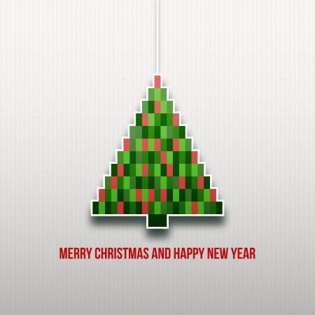 Papel de Navidad árbol de Navidad de fondo Tarjeta de Navidad Happy New Year textura de papel origami Navidad Navidad tarjeta postal Foto de archivo - 16331719