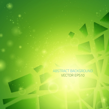 Abstract vector background  Business background  Technology background  Business card  Technology abstract  Bright background  Green background  Glowing background  Glowing background Ilustracja