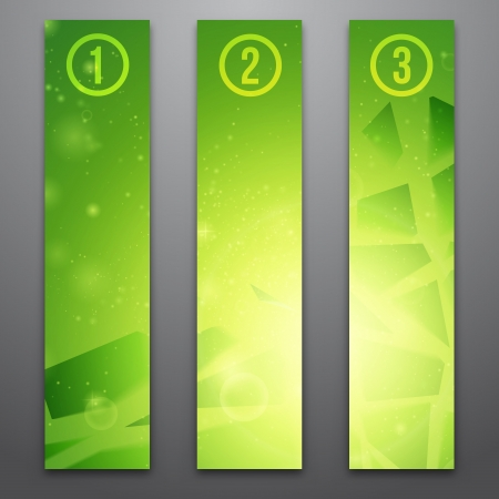 Vector web banners  One, two, three  Presentation slide template  Abstract background  Business background  Technology background  Business card  Technology abstract  Glowing background Stock Vector - 16540311
