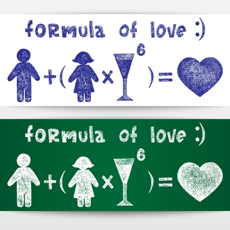 Sketchy illustration  Formula of love Stock Vector - 16540312
