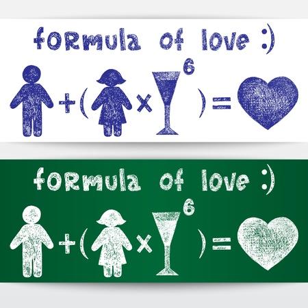 Sketchy illustration  Formula of love Stock Vector - 16540312