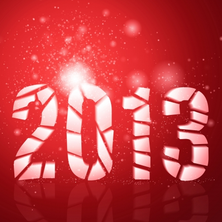 christmas party background: Abstract vector background  2013 year  Happy New Year  Merry xmas  Merry Christmas  Party background  Red background  Christmas background  Glowing background  Xmas background Illustration