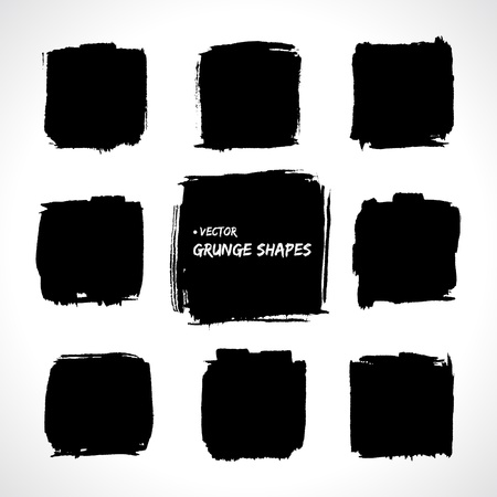Set of grunge   banners  Abstract shapes  Big pack  Grunge art