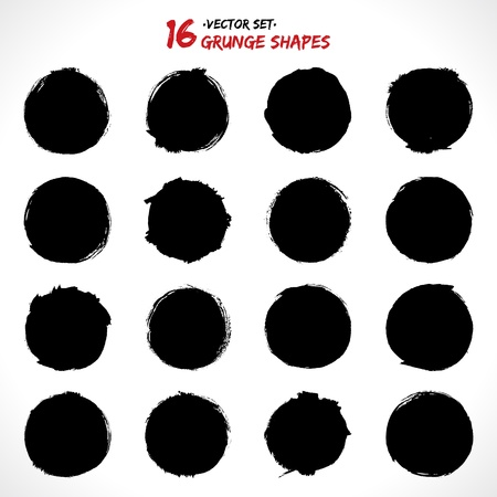 Set of round grunge vector shapes  Vector banners  Abstract shapes  Big pack  Grunge art  Retro background  Vintage background  Design elements