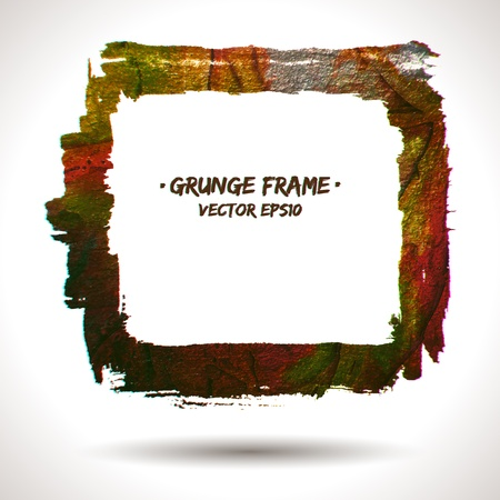Trendy grunge  frame. Grunge background. Watercolor background. Retro background. Vintage background. Business background. Abstract background. Hand drawn. Texture background. Abstract shape Stock Vector - 16902561