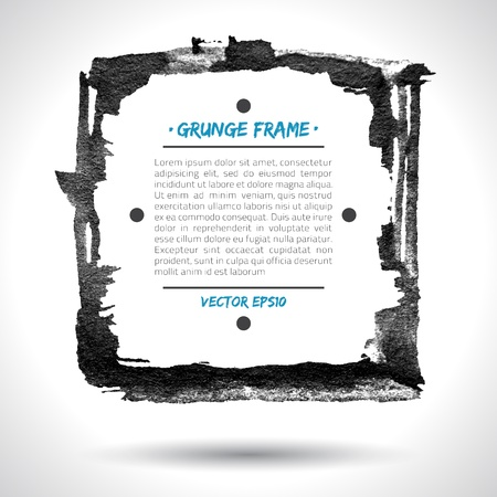 Grunge  frame. Grunge background. Watercolor background. Retro background. Vintage background. Business background. Abstract background. Hand drawn. Texture background. Abstract shape Stock Vector - 16902526