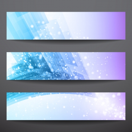 Abstract  banners  Business banner  Banner background  Web banner  Technology background  Business card  Technology abstract  Bright background  Blue background  Violet background Stock Vector - 16902500