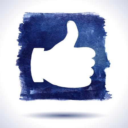 Wie Hand. Social Media. Grunge Hintergrund. Aquarell Hintergrund. Retro Hintergrund. Vintage Hintergrund. Business background. Hand gezeichnet Standard-Bild - 16957577