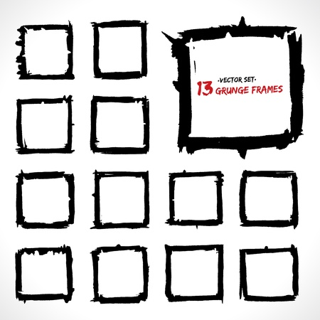 Set of grunge  frames    Stock Vector - 18393287