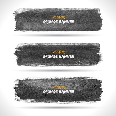 Set of grunge banners   Illustration