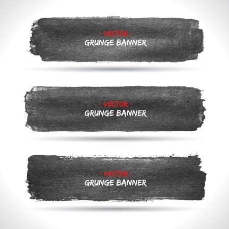 border line: Set of grunge banners