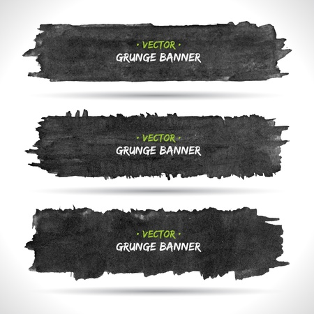 Set of grunge banners Stock Vector - 18393432