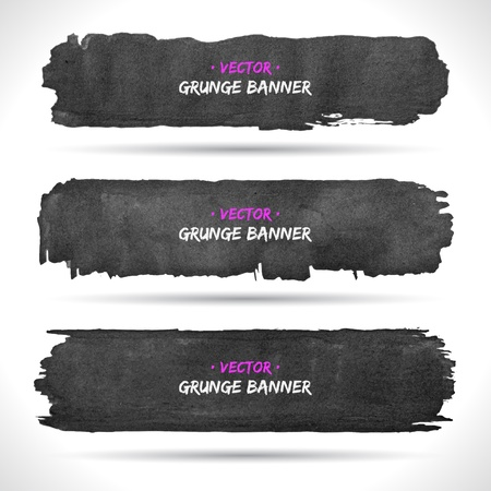 Set of grunge banners    Stock Vector - 18393421