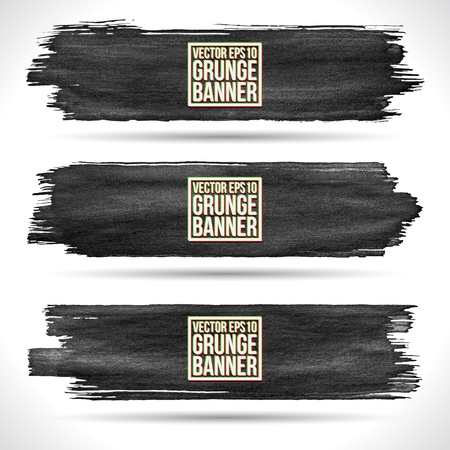 Set of grunge banners Stock Vector - 18393450