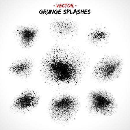 Set of grunge splashes