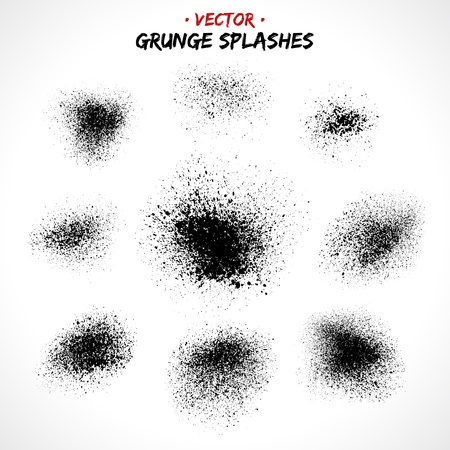 grunge stamp: Set of grunge splashes