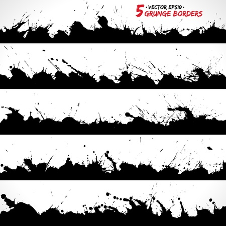 Set of grunge borders Imagens - 18393323
