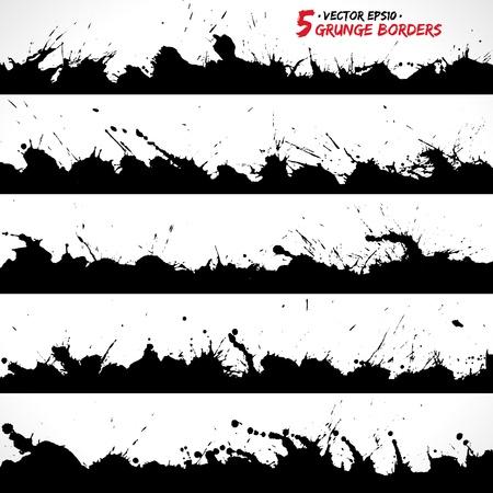Set of grunge borders
