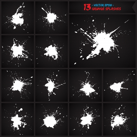 Set of grunge splashes.  Stock Vector - 18393328