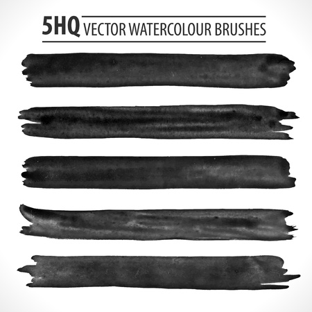 Set of watercolor brushes.   Illustration
