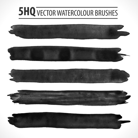 Set of watercolor brushes.