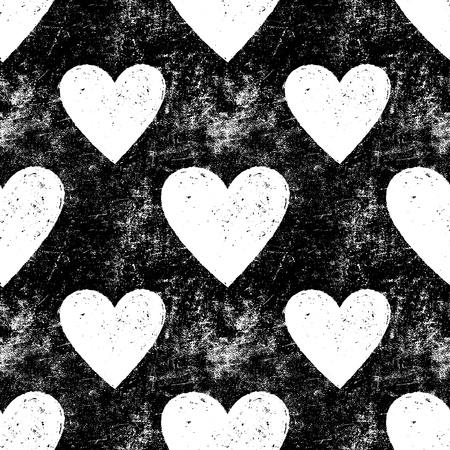 pared rota: Grunge textura vector sin fisuras con el coraz�n coraz�n, fondo del coraz�n del amor Amor patr�n patr�n patr�n Seamless retro textura vintage textura oscura textura textura viejo patr�n Antiguo