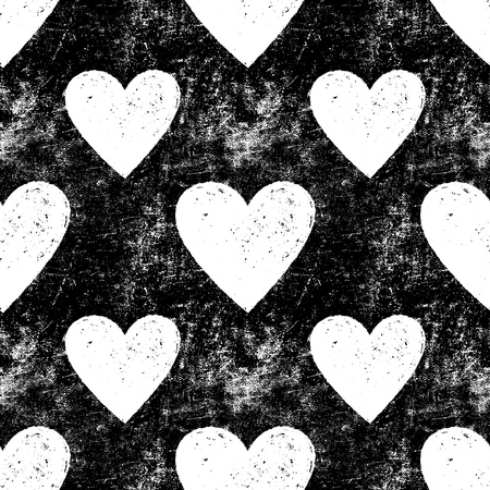 Grunge vector seamless texture with hearts  Heart background  Heart pattern  Love background  Love pattern  Seamless pattern  Retro texture  Vintage texture  Dark texture  Old pattern  Old texture Ilustracja