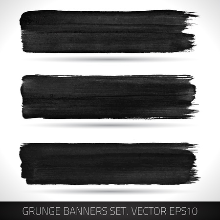 Set of grunge banners  Watercolor background  Retro background  Vintage background  Business background  Abstract background  Hand drawn  Texture background  Abstract shape Stock Vector - 19421566