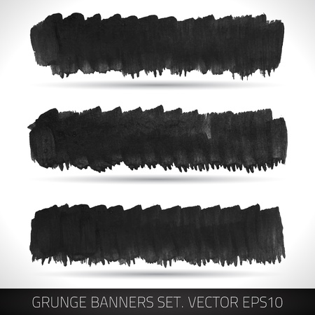 Set of grunge banners  Watercolor background   Stock Vector - 19421613