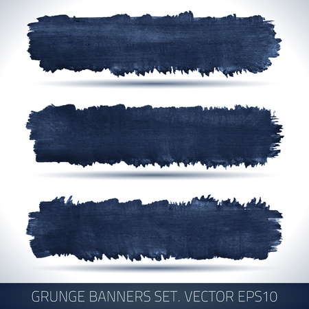 Set of grunge banners  Watercolor background  Retro background  Vintage background  Business background  Abstract background  Hand drawn  Texture background  Abstract shape Stock Vector - 19421578