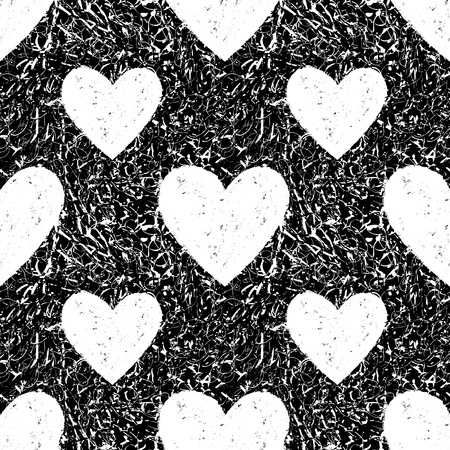 Grunge seamless texture with hearts  Heart background  Heart pattern  Love background  Love pattern  Seamless pattern  Retro texture  Vintage texture  Dark texture  Old pattern  Old texture Vector