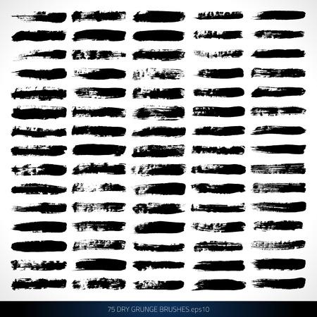 Set of grunge brushes  Design elements   brushes  Watercolor brushes    イラスト・ベクター素材