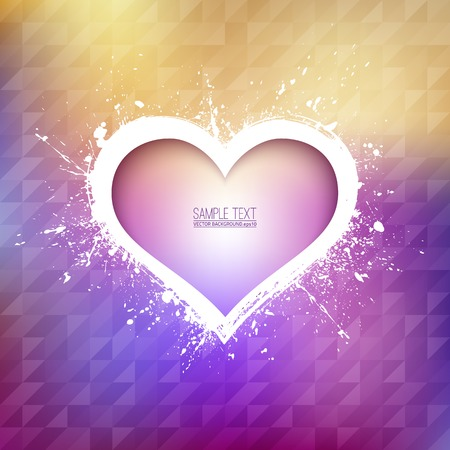 ambience: Abstract background  Heart background   Illustration