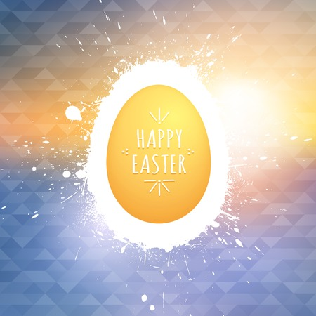 Happy Easter greeting card. Vector Happy Easter background. Vector illustration. Abstract art. Egg background. Retro background Vector