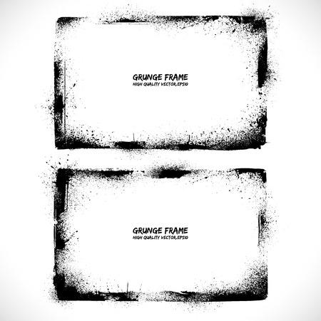 grunge edge: Grunge textured vector frames. Vector background. Vintage frames. Retro frames. Vector banners