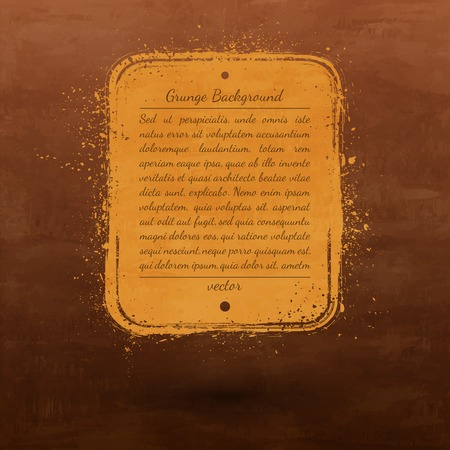 Textured brown and orange vector grunge retro background   Vector