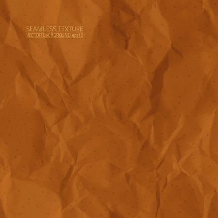 creased: Creased brown paper seamless texture Illustration
