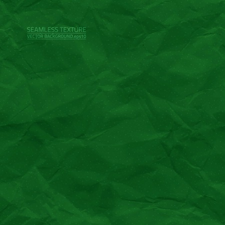 creased: Creased green paper seamless texture Illustration