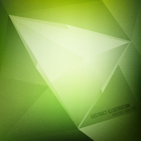 Abstract vector green background with halftone texture.